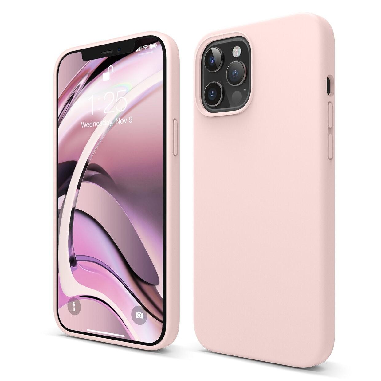 Capac protectie spate cellara din silicon colectia soft pentru iphone 12 pro max - roz