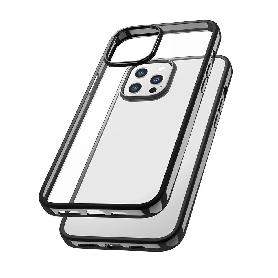 Capac protectie spate cellara colectia electro pentru iphone 12 pro max - negru