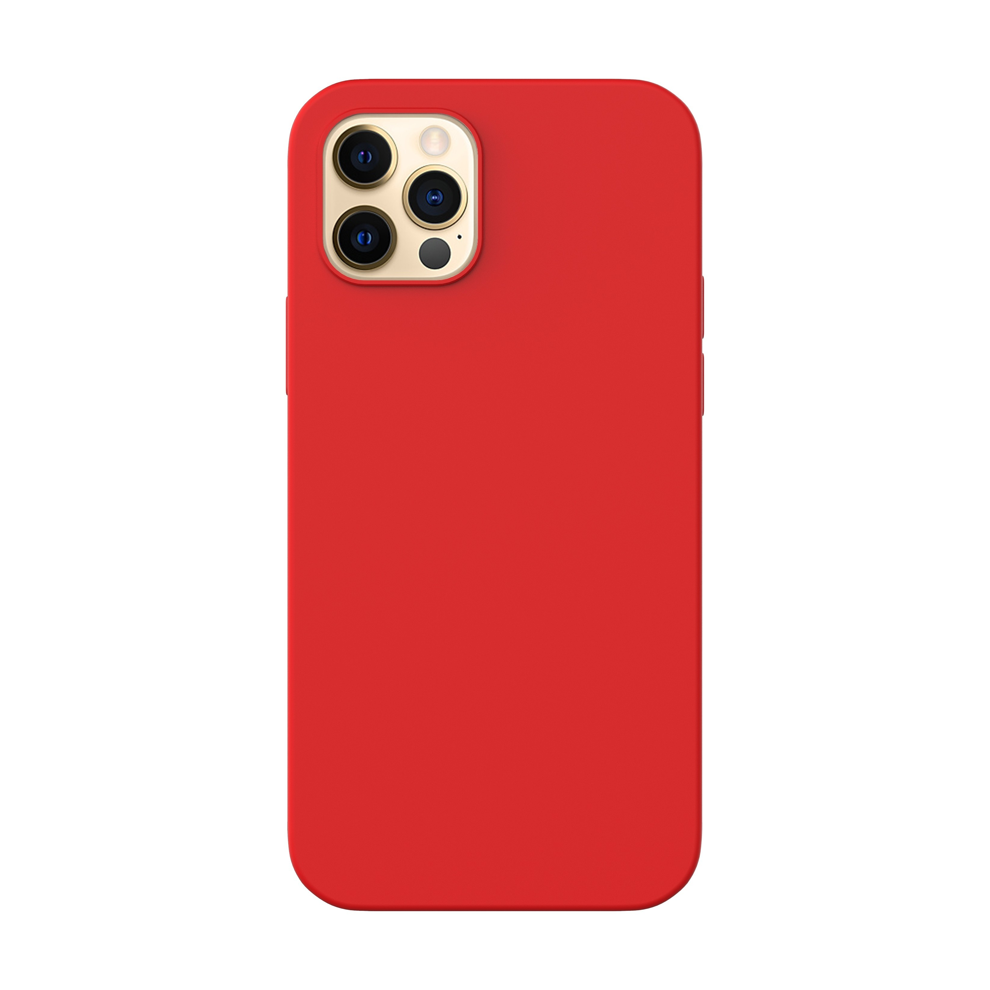 Capac protectie spate cellara din silicon colectia slim pentru iphone 12 pro max - rosu