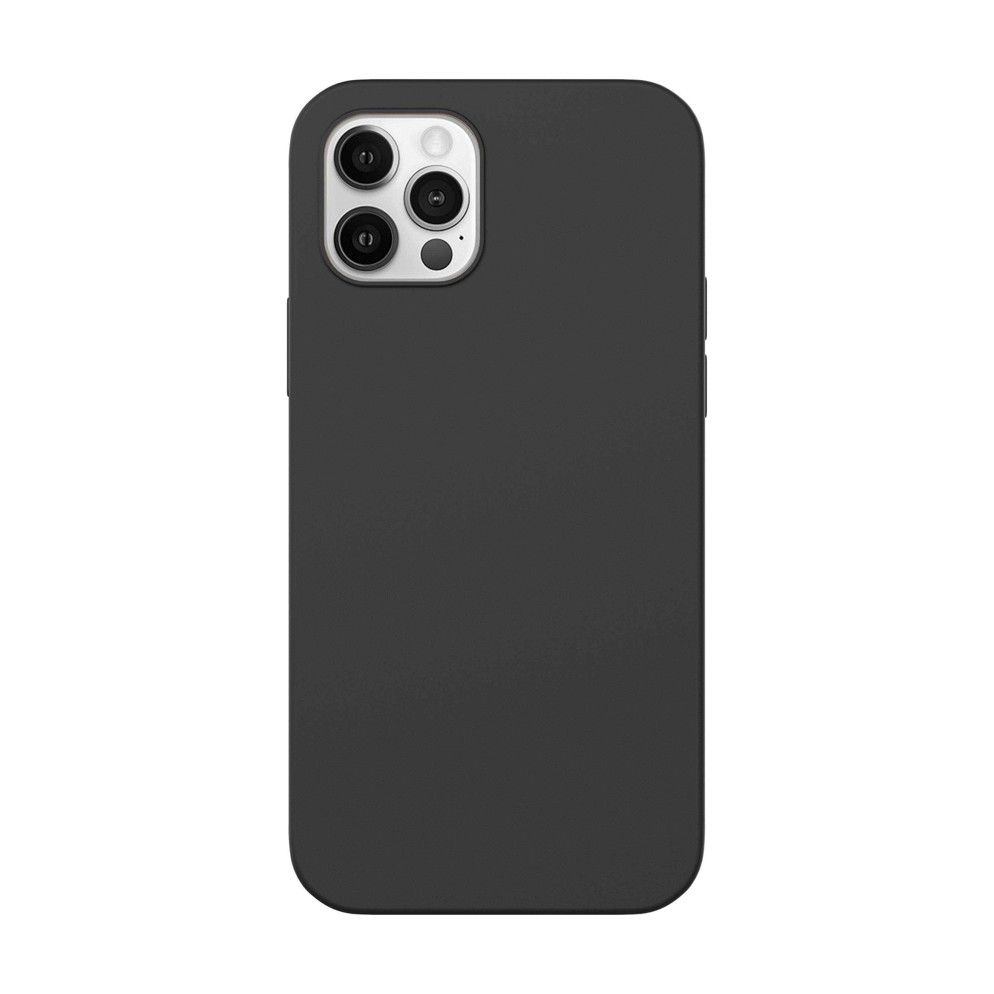 Capac protectie spate cellara din silicon colectia slim pentru iphone 12 pro max - negru