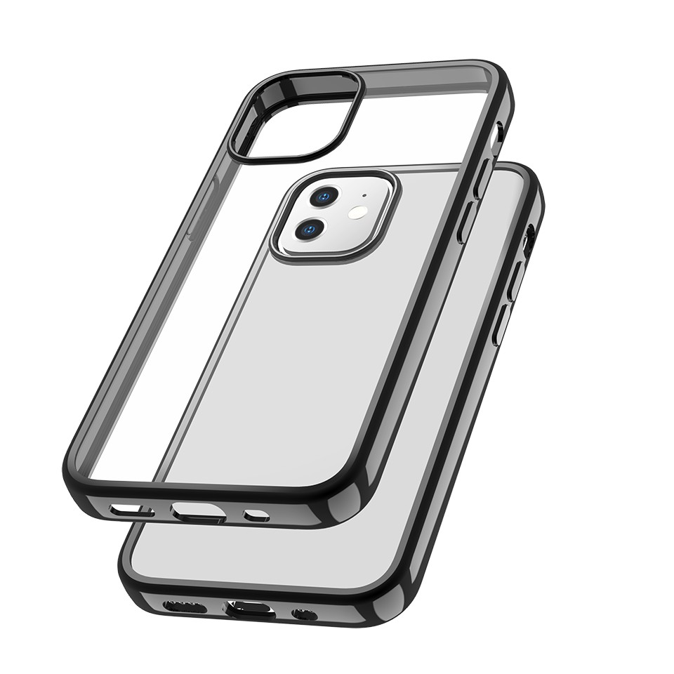 Capac protectie spate cellara colectia electro pentru iphone 12 mini - negru