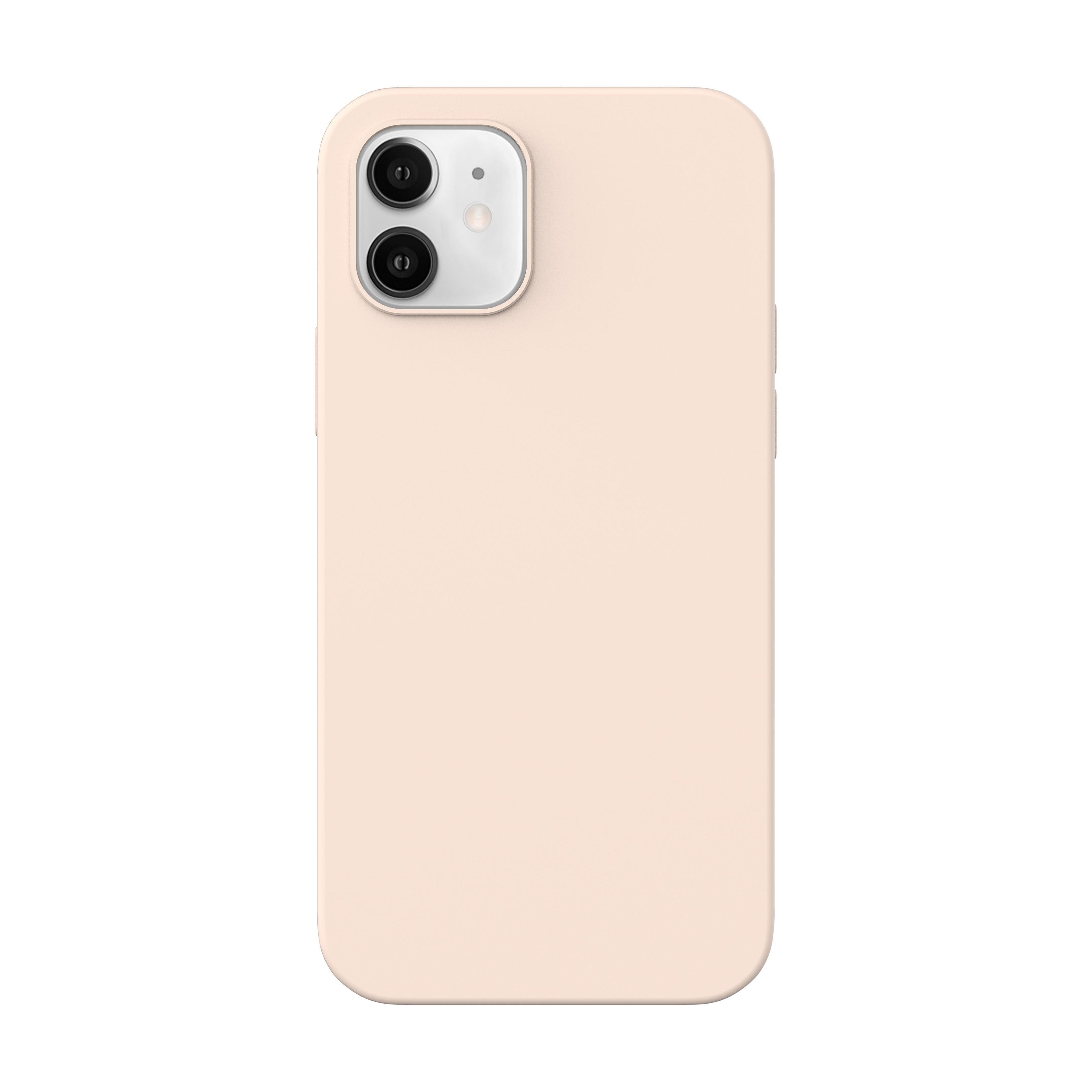 Capac protectie spate cellara din silicon colectia slim pentru iphone 12 mini - roz