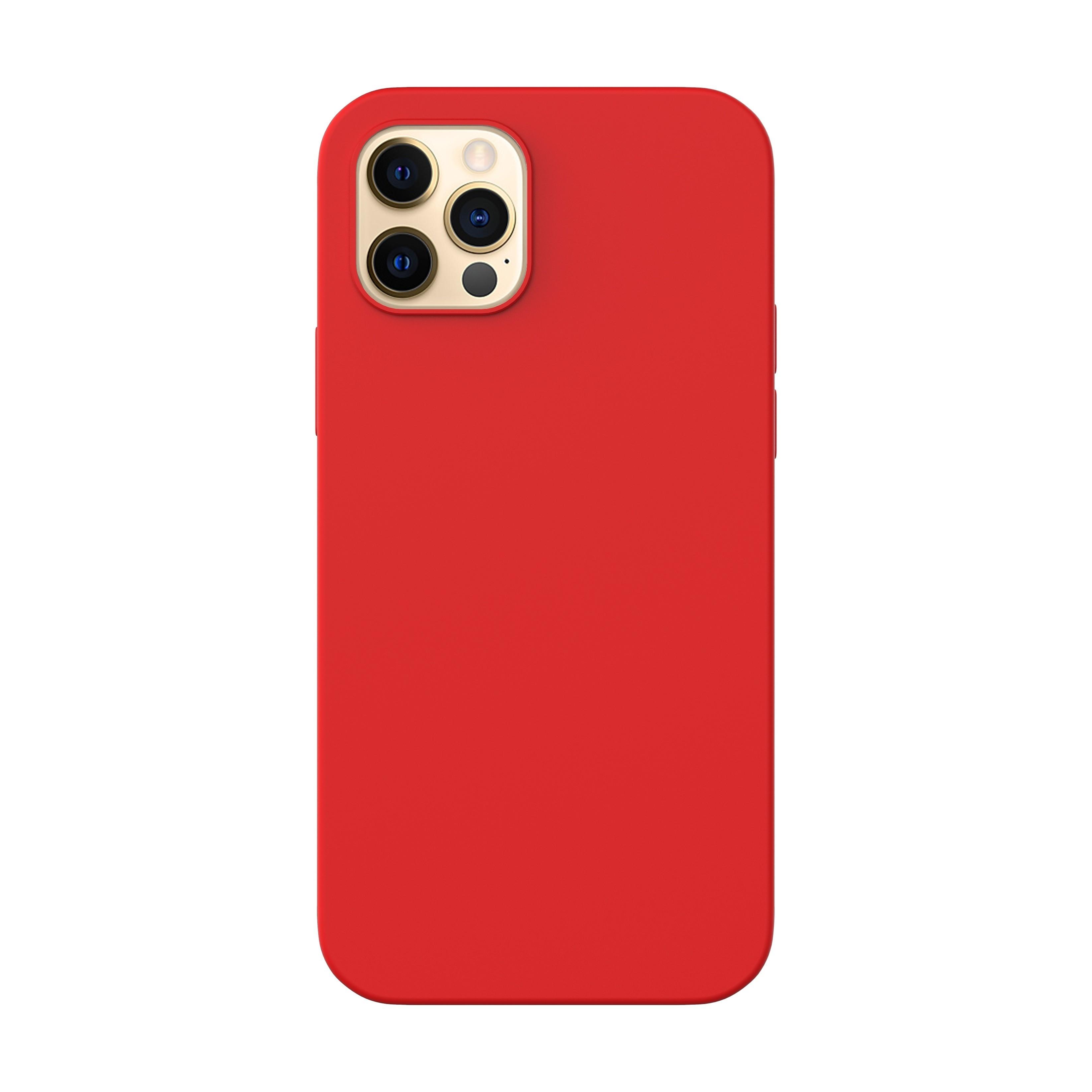 Capac protectie spate cellara din silicon colectia slim pentru iphone 12/12 pro - rosu
