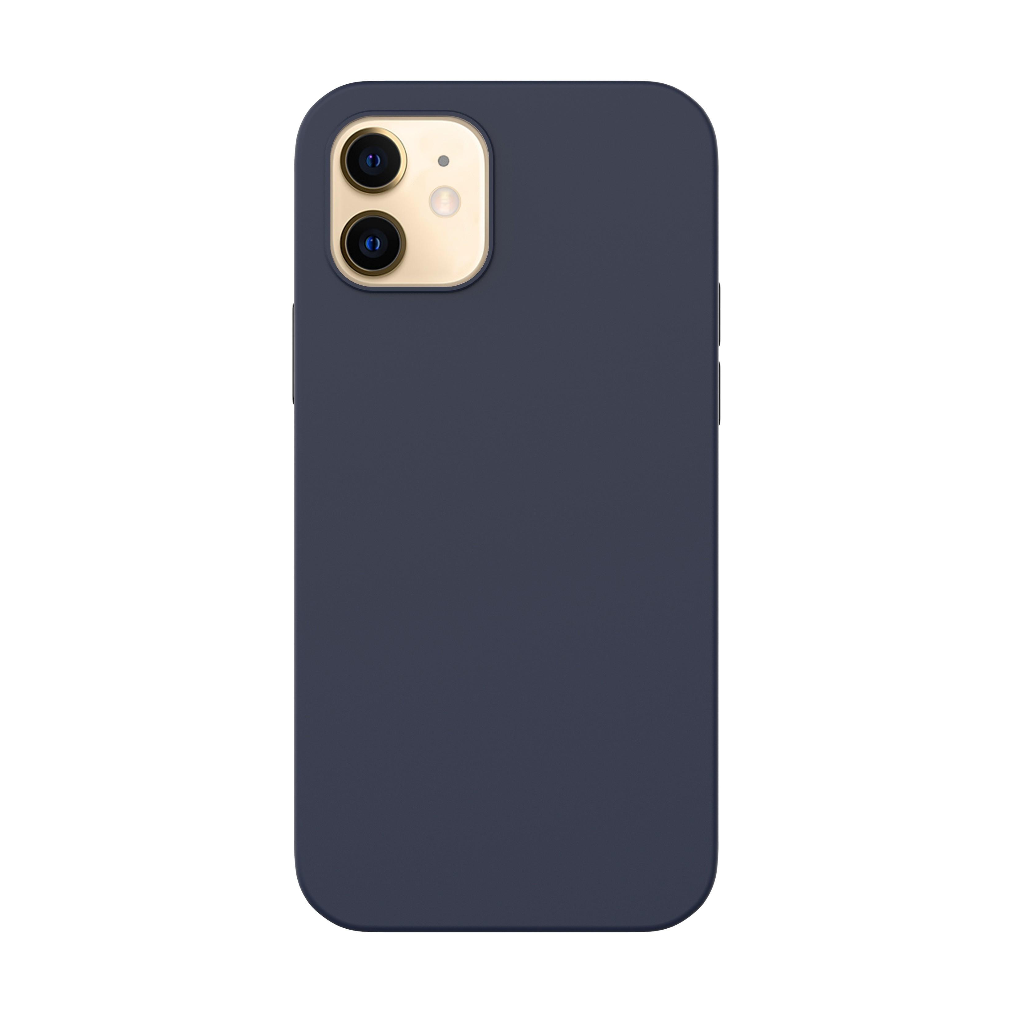 Capac protectie spate cellara din silicon colectia slim pentru iphone 12 mini - albastru