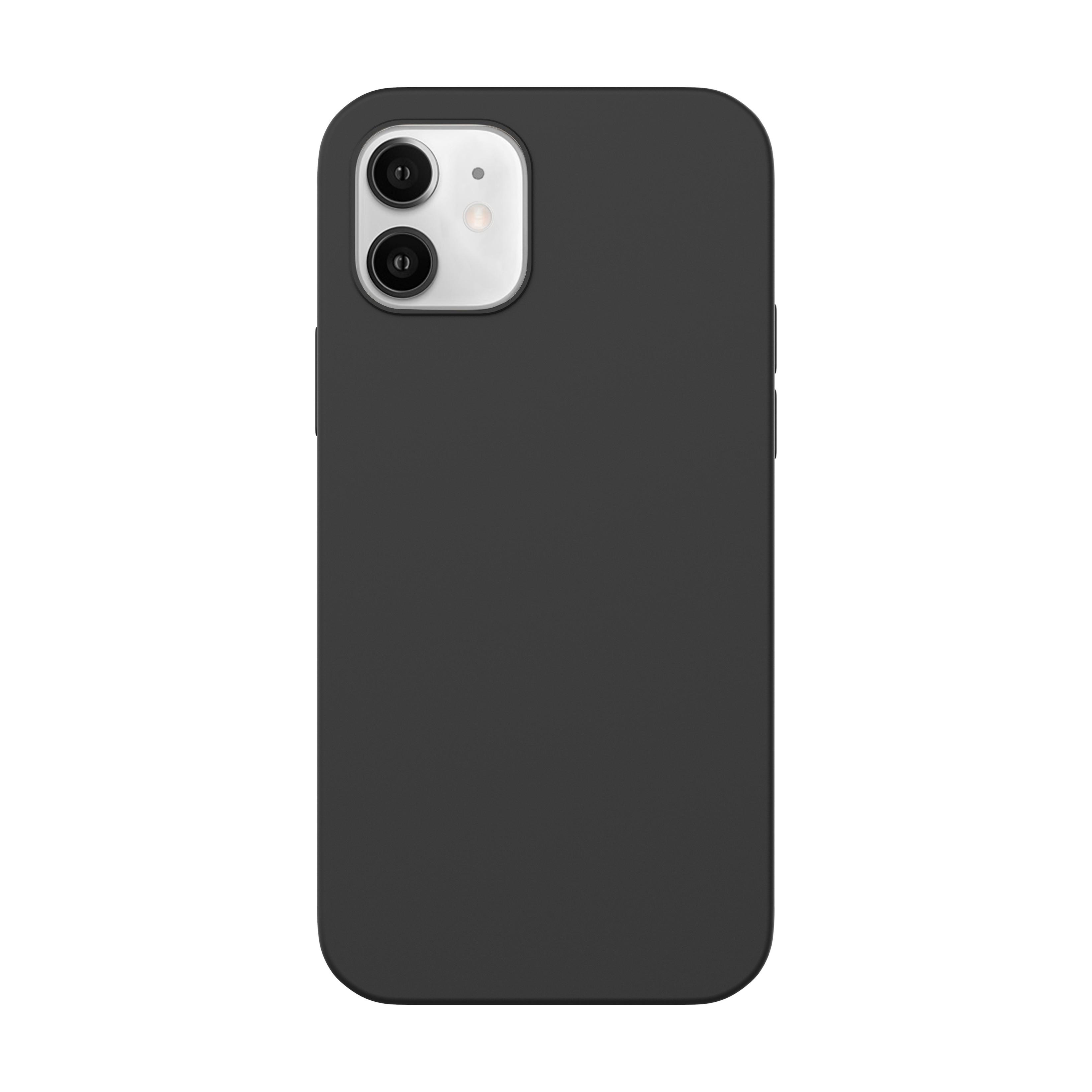 Capac protectie spate cellara din silicon colectia slim pentru iphone 12 mini - negru