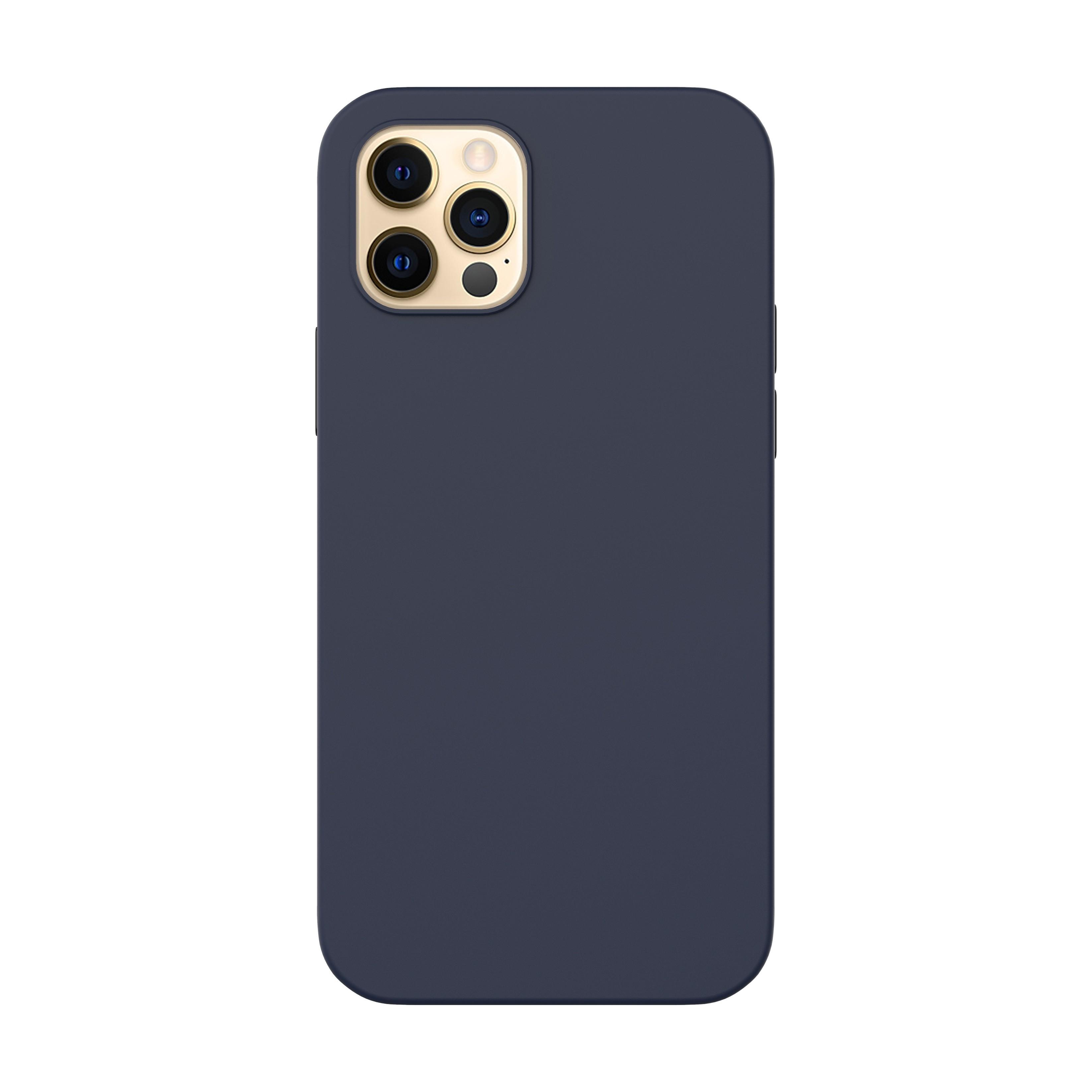Capac protectie spate cellara din silicon colectia slim pentru iphone 12/12 pro - albastru