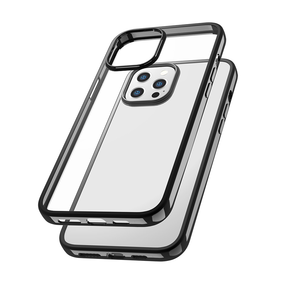 Capac protectie spate cellara colectia electro pentru iphone 12/12 pro - negru