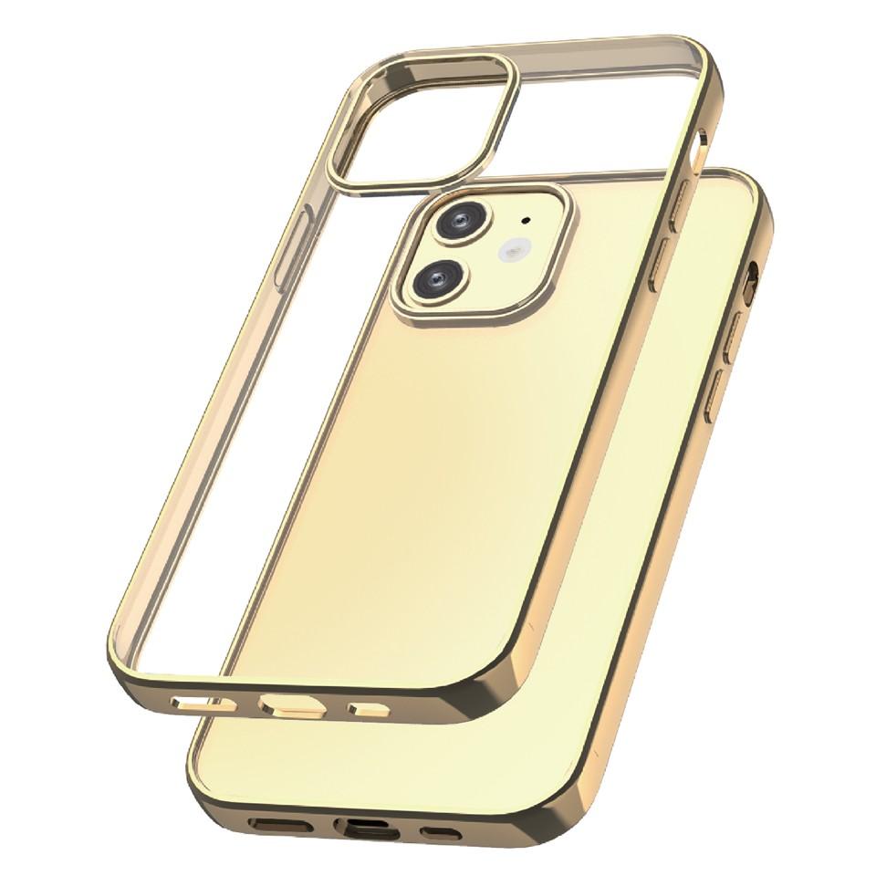 Capac protectie spate cellara colectia electro pentru iphone 12 mini - auriu