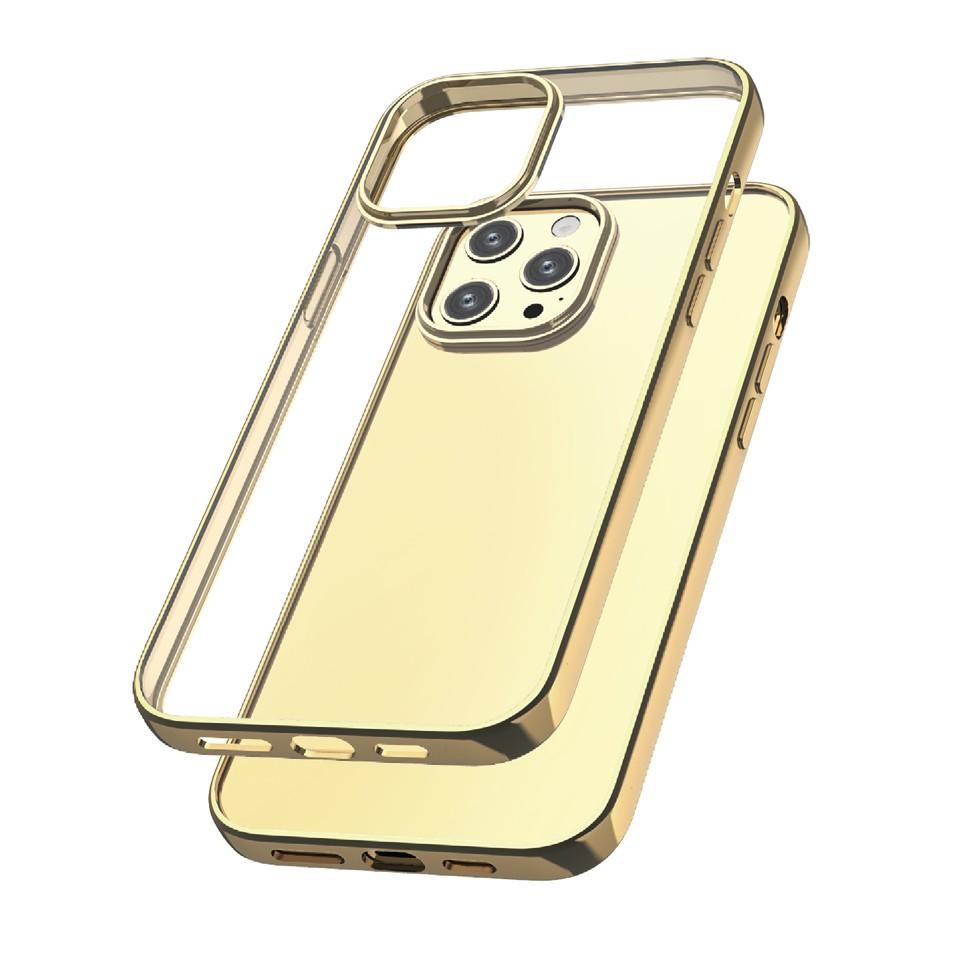 Capac protectie spate cellara colectia electro pentru iphone 12 pro max - auriu
