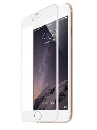 Folie protectie ecran sticla 3d cellara pentru iphone 6/6s - alba