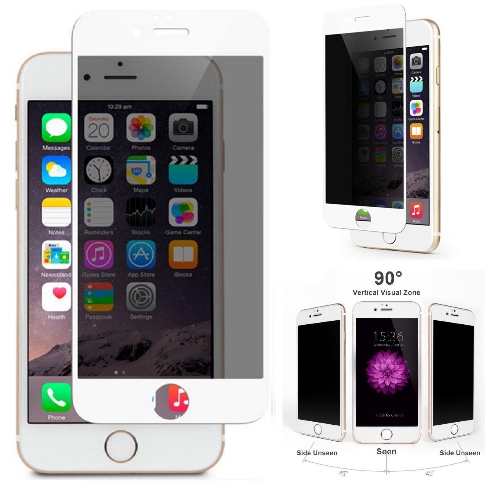 Folie protectie ecran sticla 3d privacy cellara pentru iphone 7/8/se2 - alb