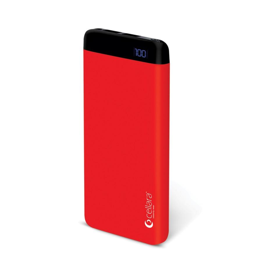 Baterie externa cellara colectia pulse capacitate 6000 mah - rosie